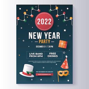 Verloop nieuwjaar verticale postersjabloon