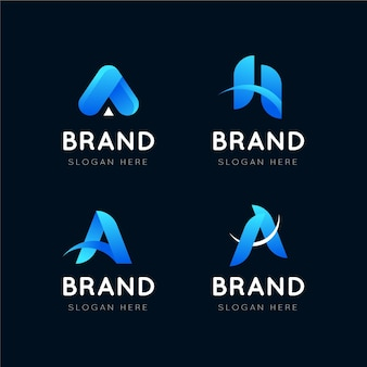 Verloop o logo sjablonen pack