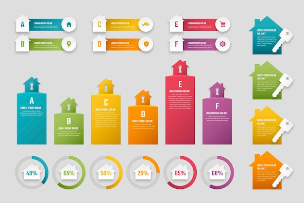 Verloop onroerend goed infographic sjabloon