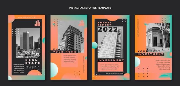 Verloop onroerend goed instagram-verhalen