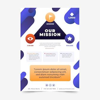 Verloop onze missie-flyersjabloon