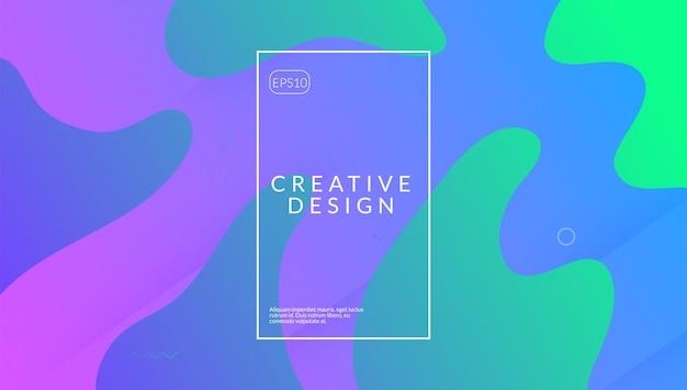Verloop poster. roze digitale omslag. creatieve pagina. hipster-textuur. vloeibaar element. 3d horizontale samenstelling. golf abstracte vorm. coole bestemmingspagina. lila gradiëntposter