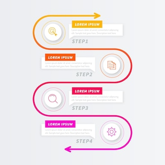 Verloop proces infographic sjabloon