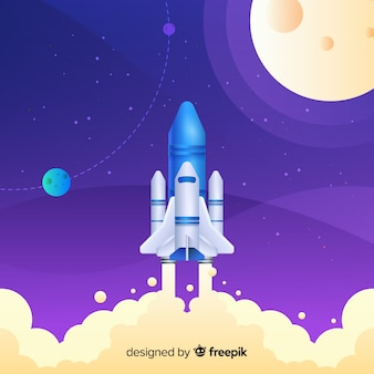 Verloop raket vliegen in de lucht