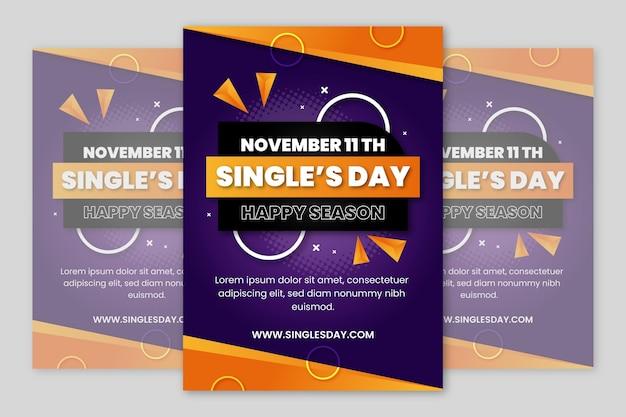 Verloop single's dag verticale postersjabloon