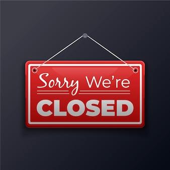 Verloop 'sorry, we zijn gesloten' uithangbord