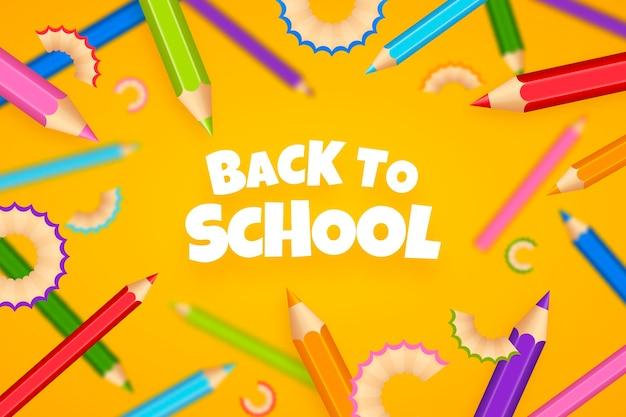Verloop terug naar school achtergrond Premium Vector