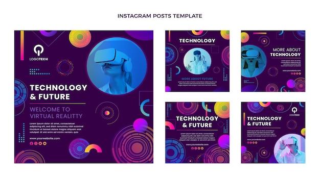 Verloop textuur technologie instagram post
