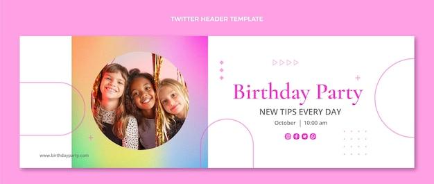 Verloop textuur verjaardag twitter header