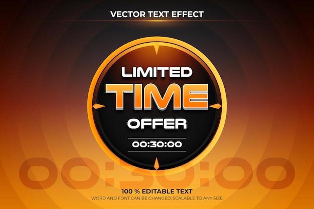 Verloop tijdelijke aanbieding verkoopbanner Premium Vector