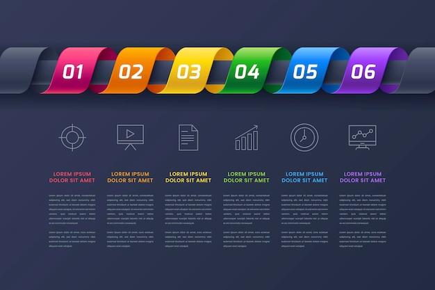 Verloop tijdlijn infographic sjabloon