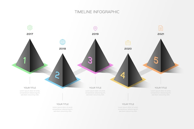 Verloop tijdlijn infographic