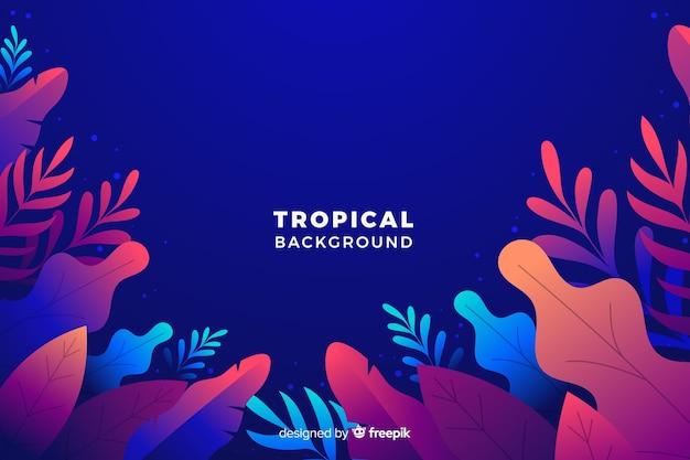 Verloop tropische achtergrond