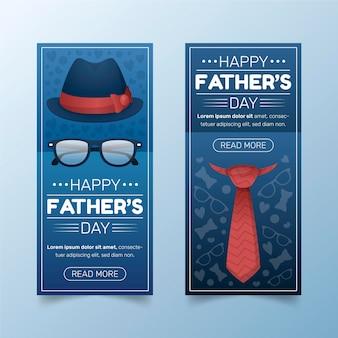 Verloop vaderdag banners instellen