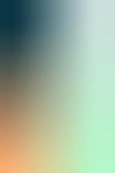 Verloop, vage houtskool, oranje, munt, babyblauwe gradiëntbehangachtergrond