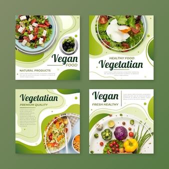Verloop vegetarisch eten instagram posts collectie
