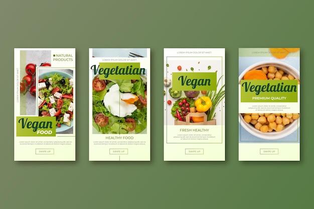 Verloop vegetarisch eten instagram verhalencollectie