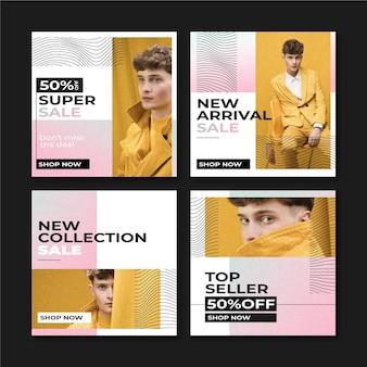 Verloop verkoop instagram post collectie