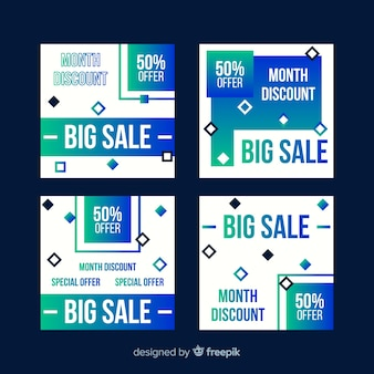 Verloop verkoop instagram post set