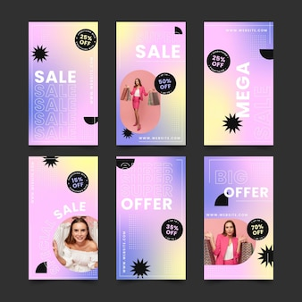 Verloop verkoop instagram verhaalcollectie