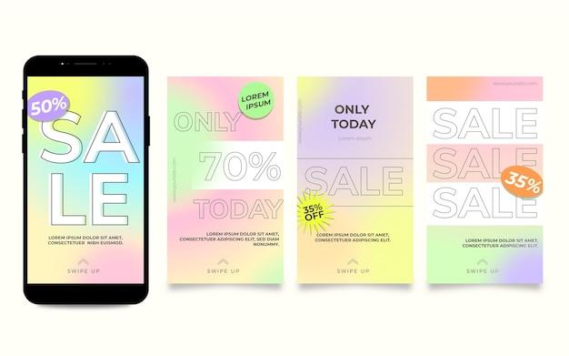 Verloop verkoop instagram verhaalset