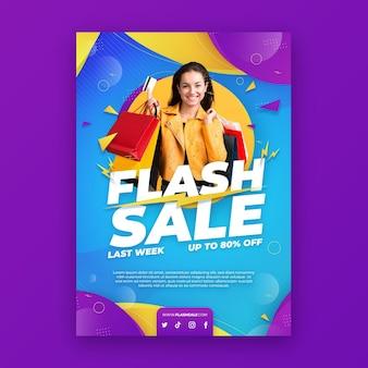 Verloop verkoop poster met foto