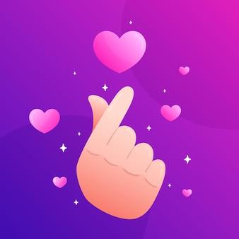 Verloop vinger hart