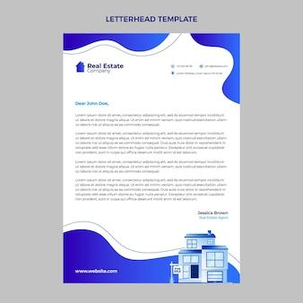 Verloop vloeibare vormen briefpapier voor onroerend goed