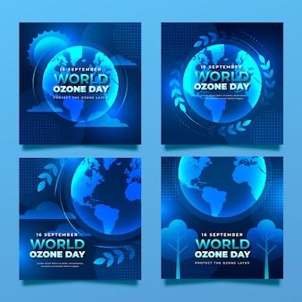 Verloop wereld ozon dag instagram berichten collectie