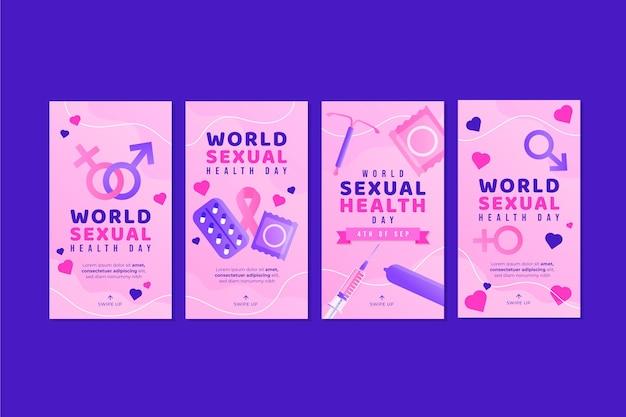 Verloop wereld seksuele gezondheid dag instagram verhalen collectie