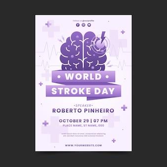 Verloop wereld slag dag verticale poster sjabloon