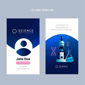 Verloop wetenschap id-kaartsjabloon