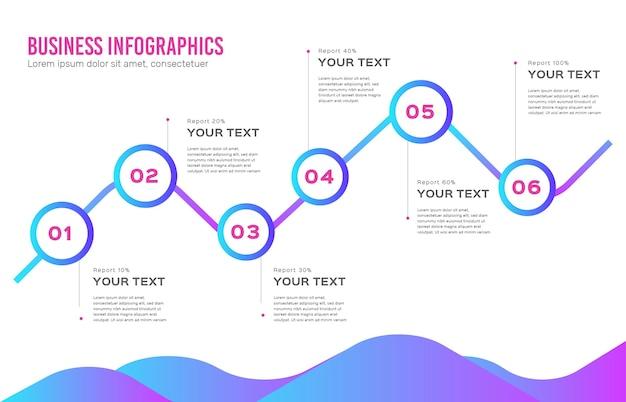 Verloop zakelijke infographics