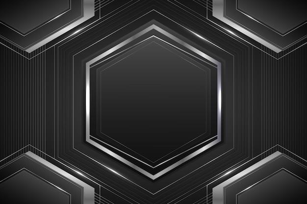 Verloop zilver luxe frame sjabloon