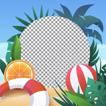 Verloop zomer social media frame sjabloon