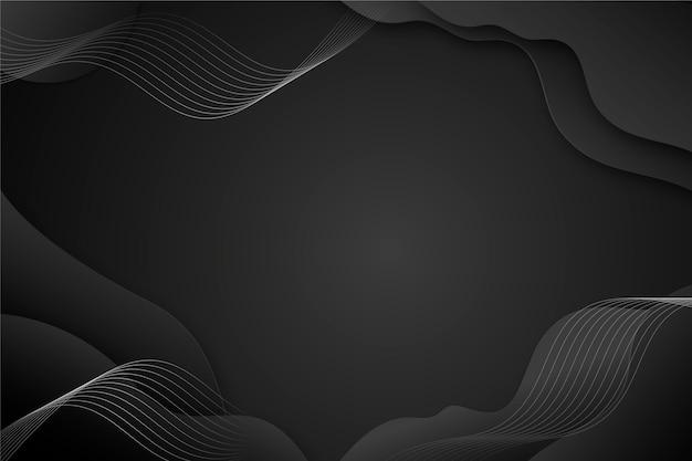 Verloop zwarte achtergrond met golvende lijnen