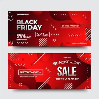 Verloop zwarte vrijdag banners sjabloon