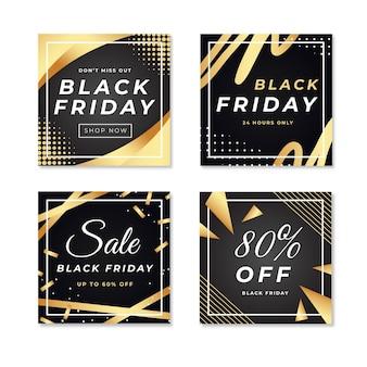 Verloop zwarte vrijdag instagram-berichten