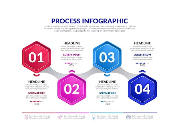 Verloopproces infographic sjabloon