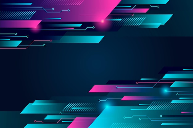 Verlooptechnologie futuristische achtergrond