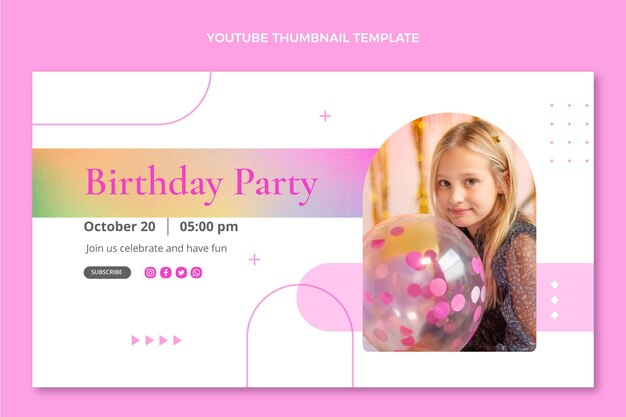 Verlooptextuur verjaardag youtube thumbnail