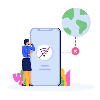 Verloren verbinding concept illustratie