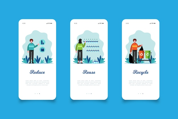 Verminder en recycle schermen van mobiele apps