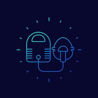 Vernevelaar, inhalator lijn vector icon