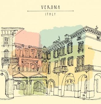 Verona achtergrond ontwerp