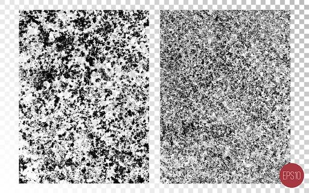 Verontruste gedetailleerde overlay-texturen van ruwe oppervlakken