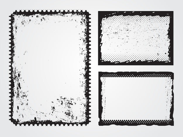 Verontruste grungy frames