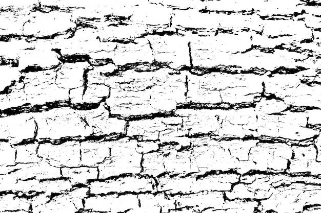 Verontruste overlay textuur van ruw oppervlak, gebarsten hout, boomschors.