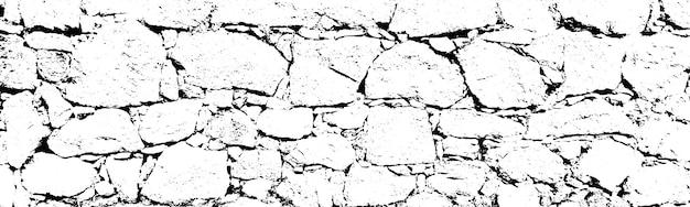 Verontruste overlay textuur van ruw oppervlak, gebarsten rotsen, stenen muur. grunge achtergrond. grafisch hulpmiddel in één kleur.