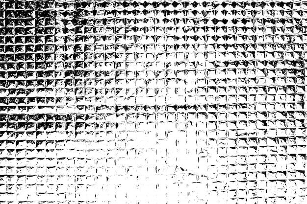 Verontruste overlay textuur van ruw oppervlak, regelmatige structuur, geruite folie. grunge achtergrond. grafische bron met één kleur.